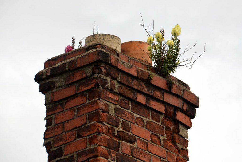 Dangerous chimney debris